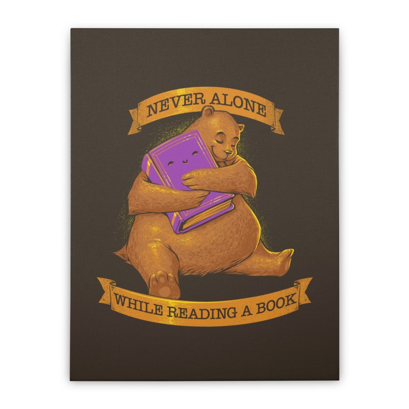 Never Alone While Reading a Book Home Stretched Canvas by Tobe Fonseca's Artist Shop