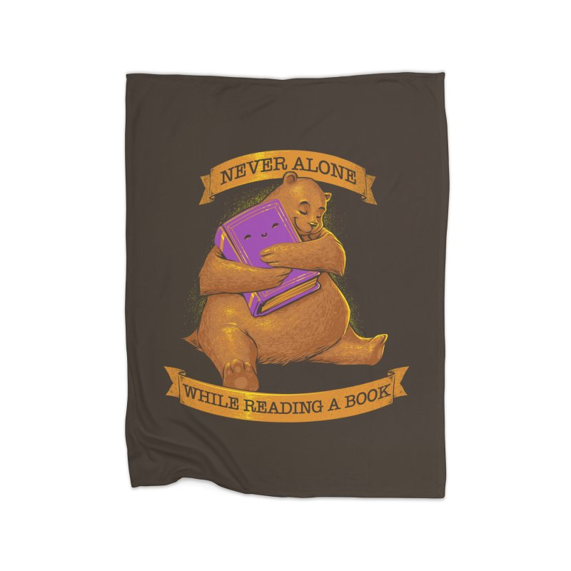 Never Alone While Reading a Book Home Blanket by Tobe Fonseca's Artist Shop