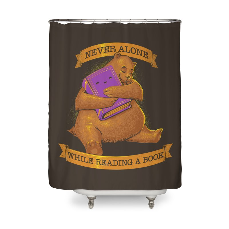 Never Alone While Reading a Book Home Shower Curtain by Tobe Fonseca's Artist Shop