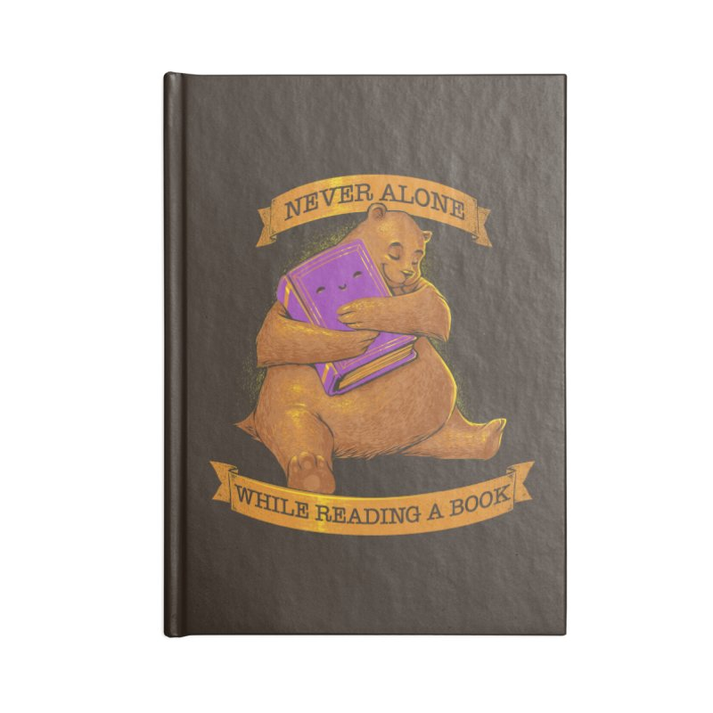 Never Alone While Reading a Book Accessories Notebook by Tobe Fonseca's Artist Shop