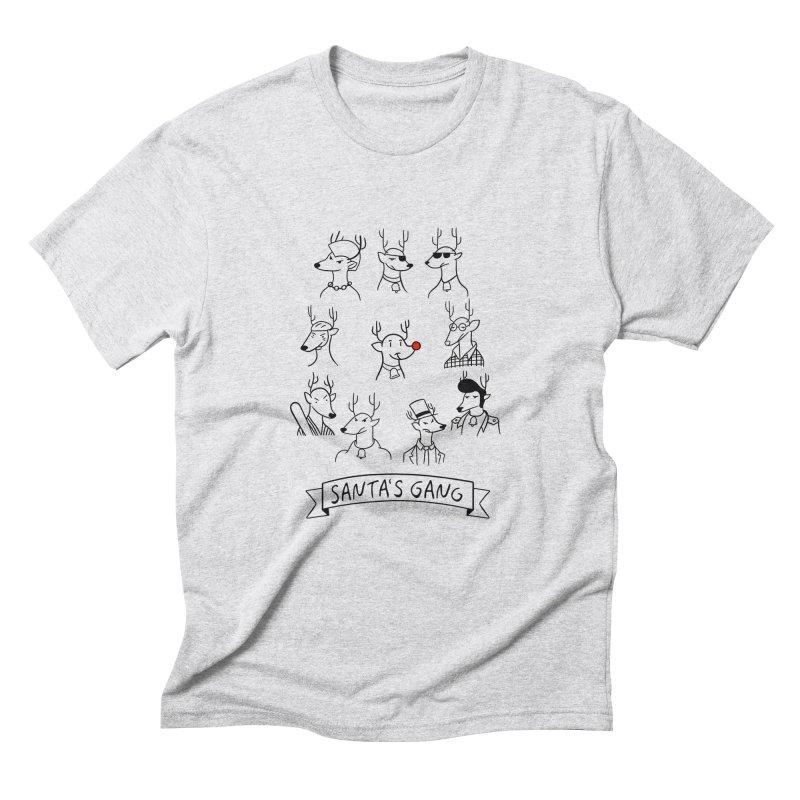 Santa's Gang Men's Triblend T-shirt by Tobe Fonseca's Artist Shop