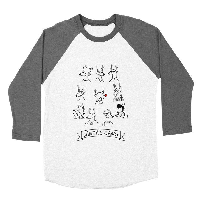 Santa's Gang Women's Baseball Triblend T-Shirt by Tobe Fonseca's Artist Shop