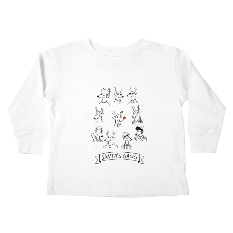 Santa's Gang Kids Toddler Longsleeve T-Shirt by Tobe Fonseca's Artist Shop