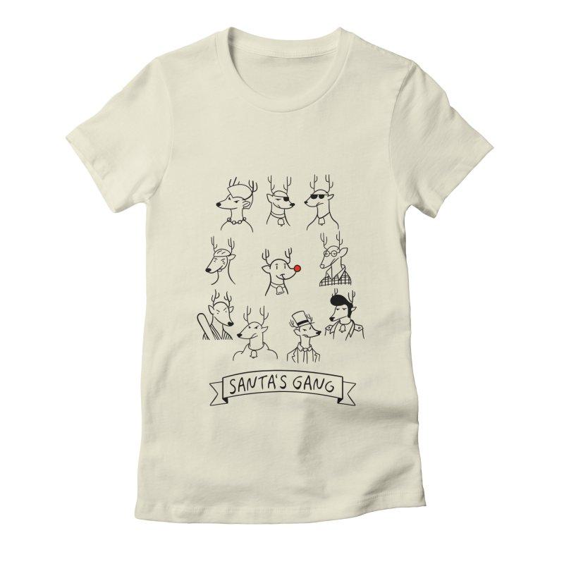 Santa's Gang Women's Fitted T-Shirt by Tobe Fonseca's Artist Shop