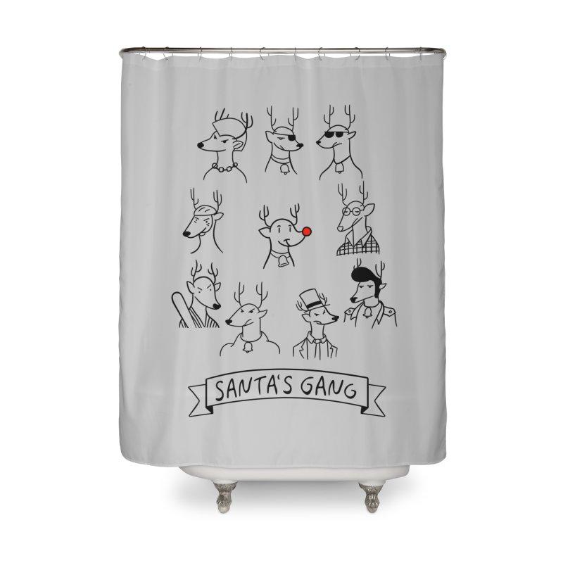 Santa's Gang Home Shower Curtain by Tobe Fonseca's Artist Shop