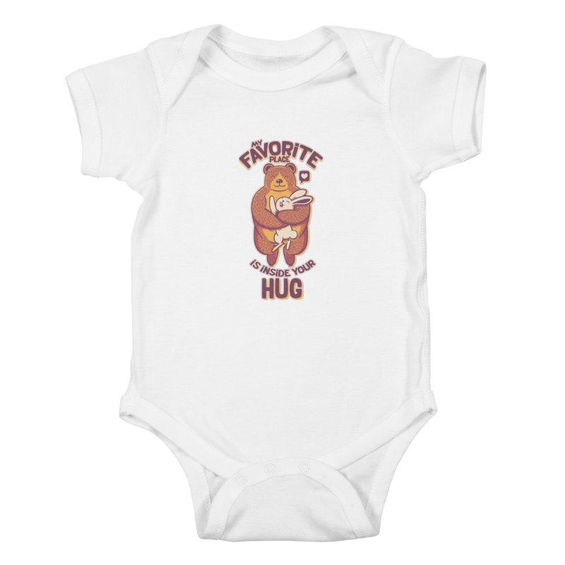 My Favorite Place Is Inside Your Hug Kids Baby Bodysuit by Tobe Fonseca's Artist Shop