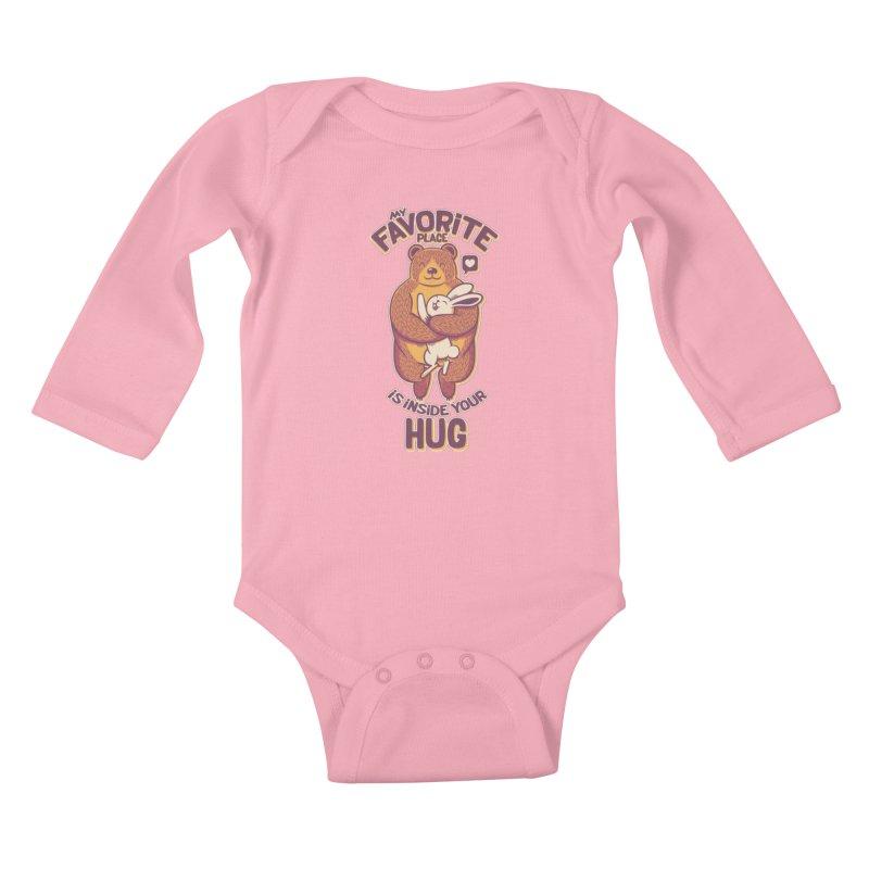 My Favorite Place Is Inside Your Hug Kids Baby Longsleeve Bodysuit by Tobe Fonseca's Artist Shop