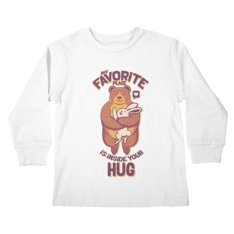 My Favorite Place Is Inside Your Hug Kids Longsleeve T-Shirt by Tobe Fonseca's Artist Shop