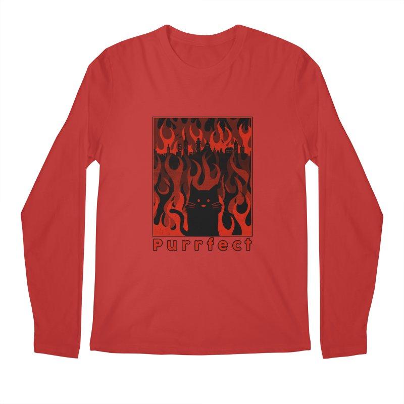 Purrfect Men's Longsleeve T-Shirt by Tobe Fonseca's Artist Shop