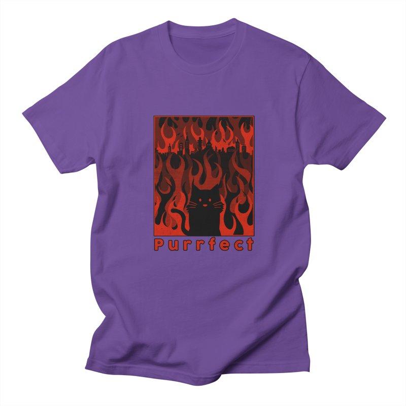 Purrfect Men's T-shirt by Tobe Fonseca's Artist Shop