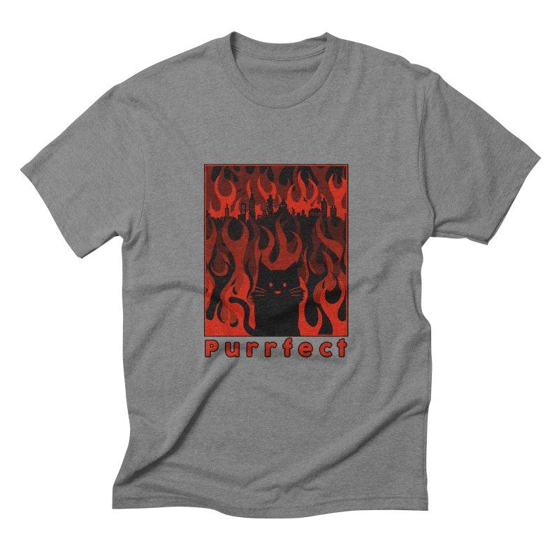 Purrfect Men's Triblend T-shirt by Tobe Fonseca's Artist Shop