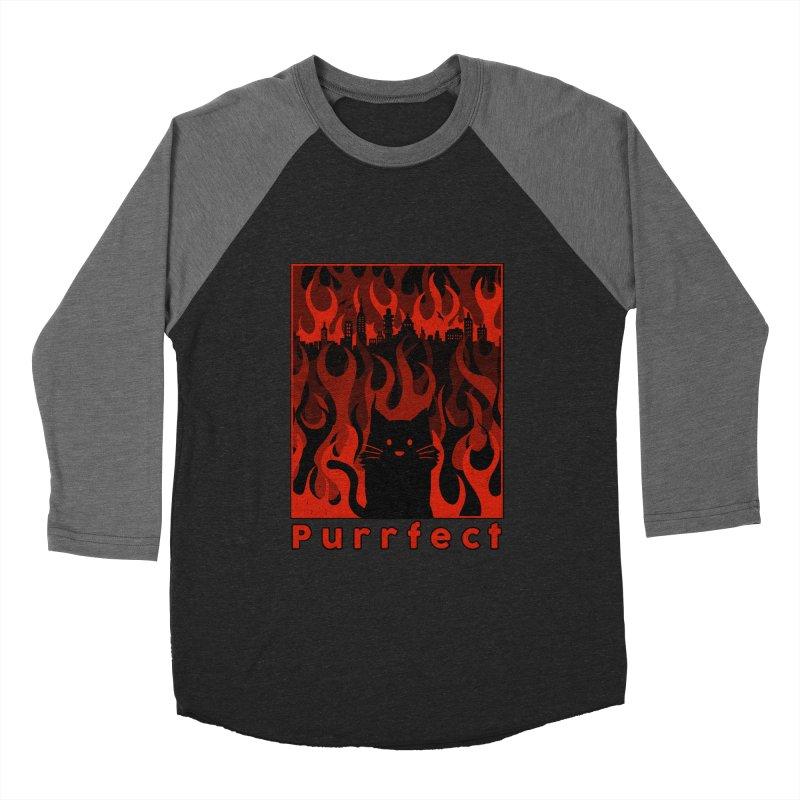 Purrfect Women's Baseball Triblend T-Shirt by Tobe Fonseca's Artist Shop