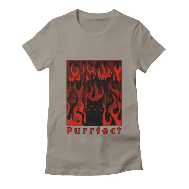 Purrfect Women's Fitted T-Shirt by Tobe Fonseca's Artist Shop