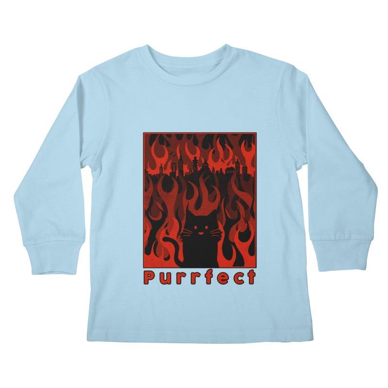 Purrfect Kids Longsleeve T-Shirt by Tobe Fonseca's Artist Shop