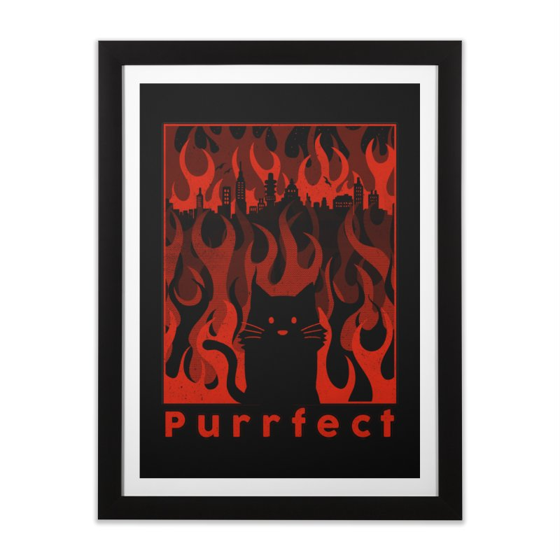 Purrfect Home Framed Fine Art Print by Tobe Fonseca's Artist Shop