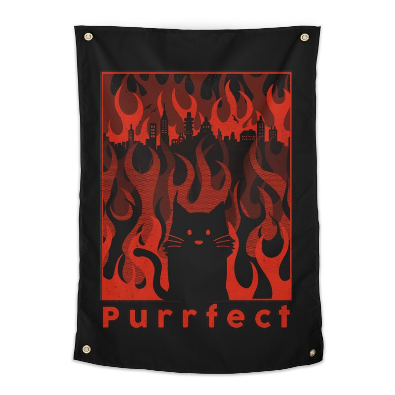 Purrfect Home Tapestry by Tobe Fonseca's Artist Shop