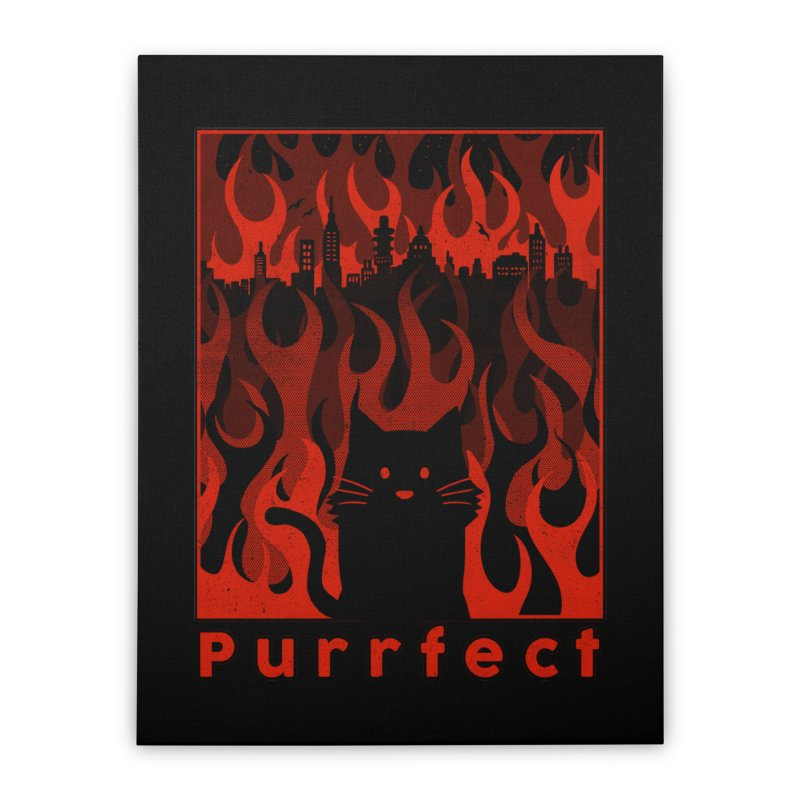Purrfect Home Stretched Canvas by Tobe Fonseca's Artist Shop