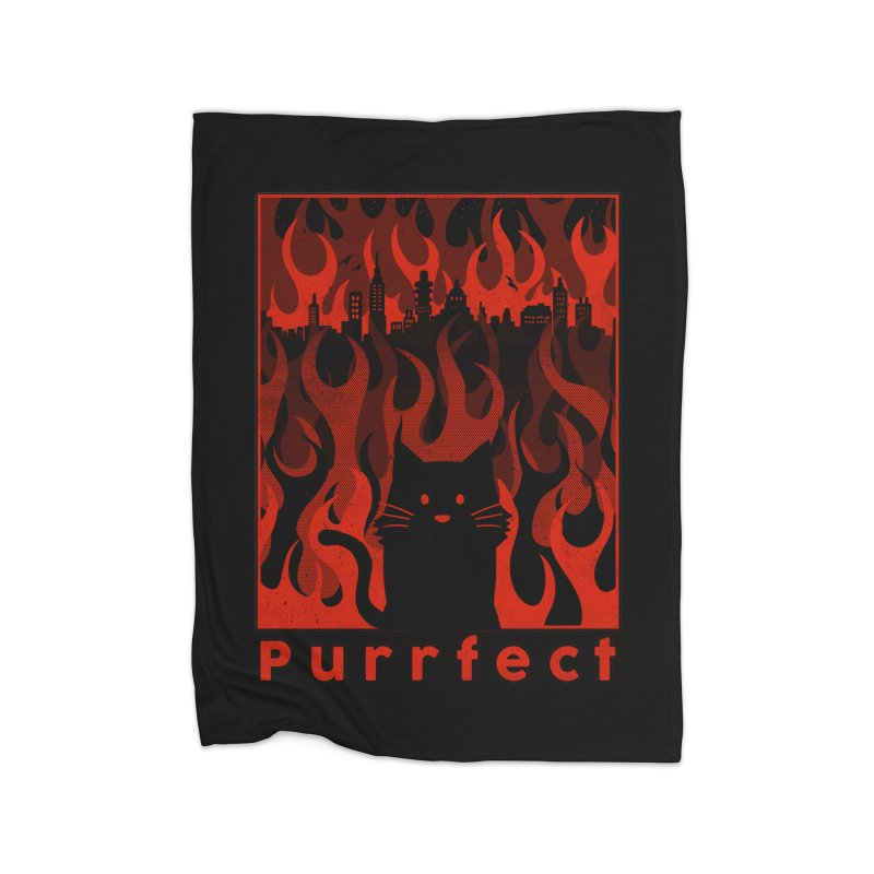 Purrfect Home Blanket by Tobe Fonseca's Artist Shop