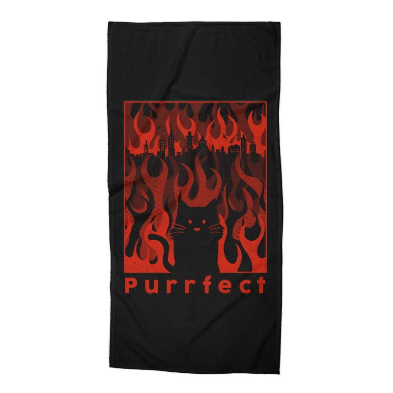 Purrfect Accessories Beach Towel by Tobe Fonseca's Artist Shop
