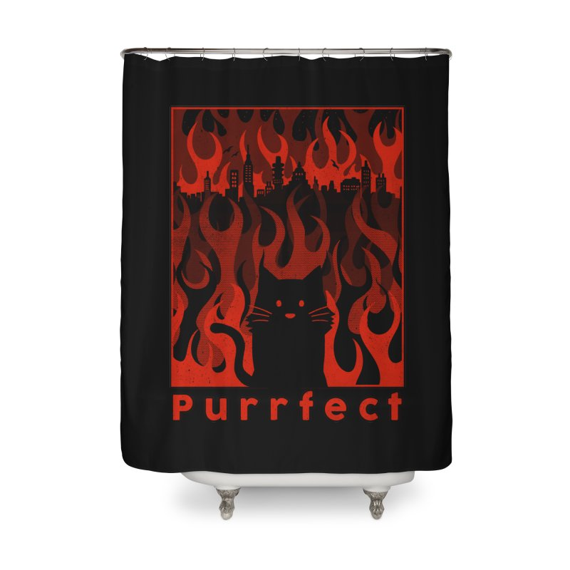 Purrfect Home Shower Curtain by Tobe Fonseca's Artist Shop