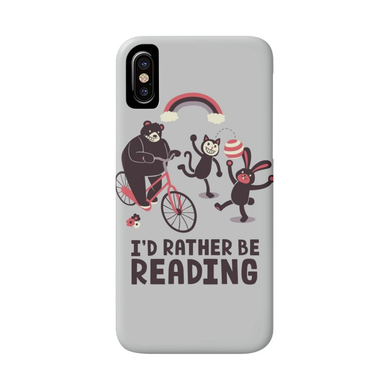 I'd Rather Be Reading Accessories Phone Case by Tobe Fonseca's Artist Shop