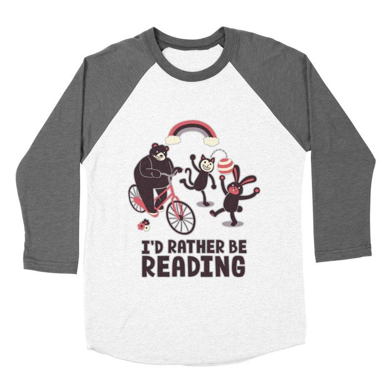 I'd Rather Be Reading Women's Baseball Triblend T-Shirt by Tobe Fonseca's Artist Shop