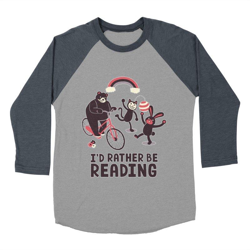 I'd Rather Be Reading Men's Baseball Triblend T-Shirt by Tobe Fonseca's Artist Shop