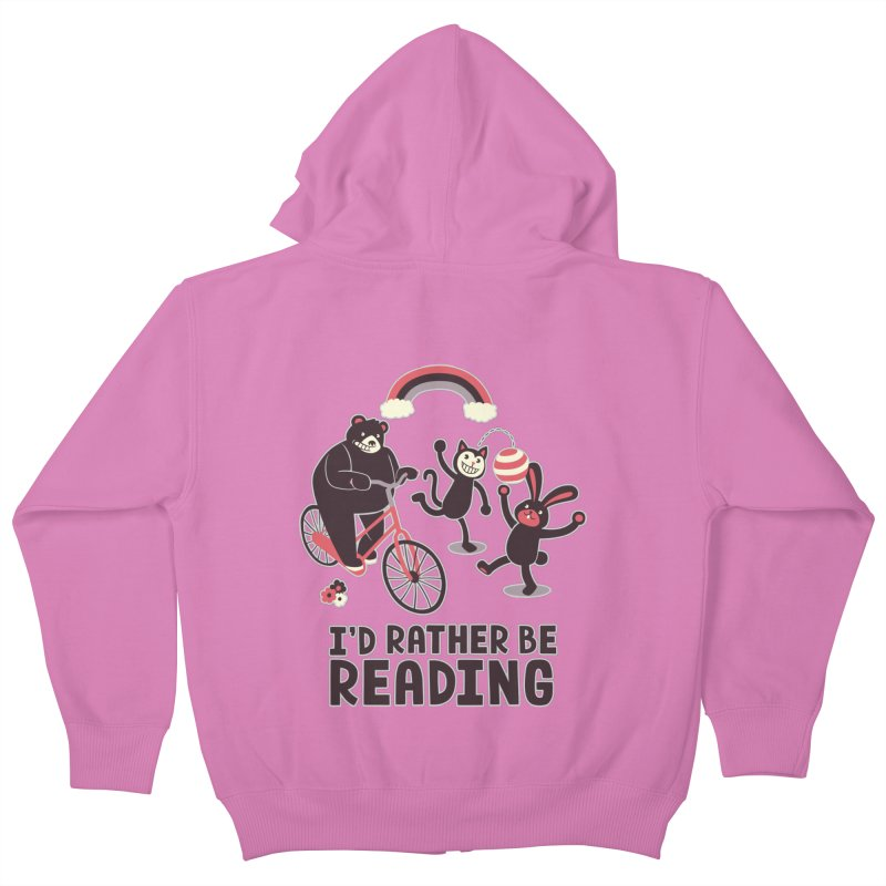 I'd Rather Be Reading Kids Zip-Up Hoody by Tobe Fonseca's Artist Shop