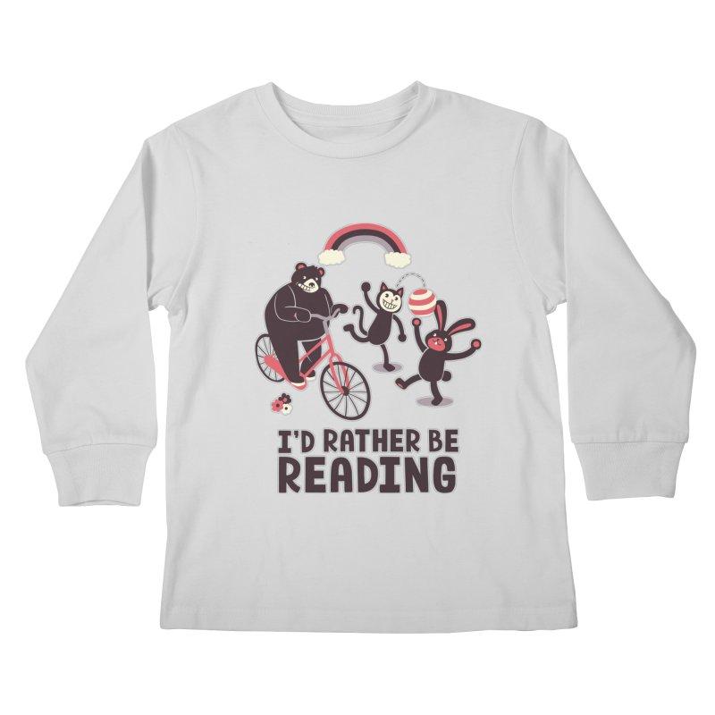 I'd Rather Be Reading Kids Longsleeve T-Shirt by Tobe Fonseca's Artist Shop