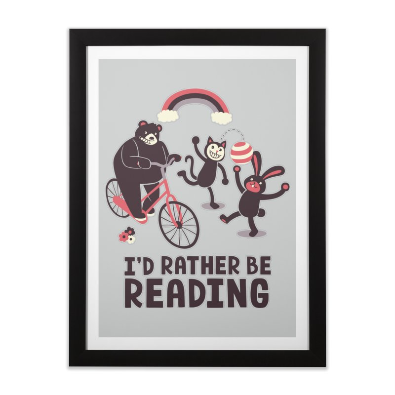 I'd Rather Be Reading Home Framed Fine Art Print by Tobe Fonseca's Artist Shop