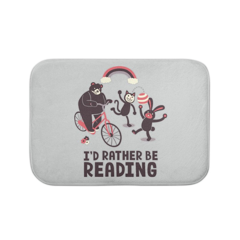 I'd Rather Be Reading Home Bath Mat by Tobe Fonseca's Artist Shop