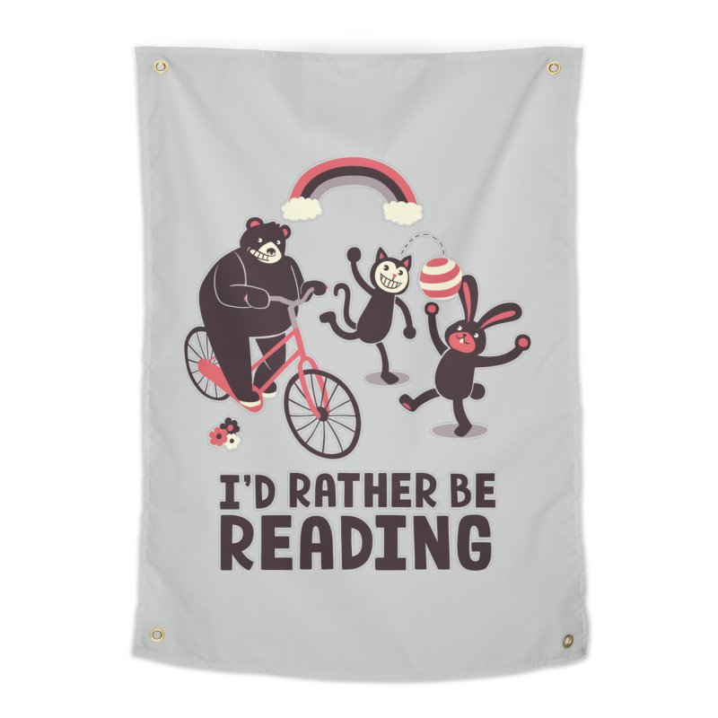 I'd Rather Be Reading Home Tapestry by Tobe Fonseca's Artist Shop