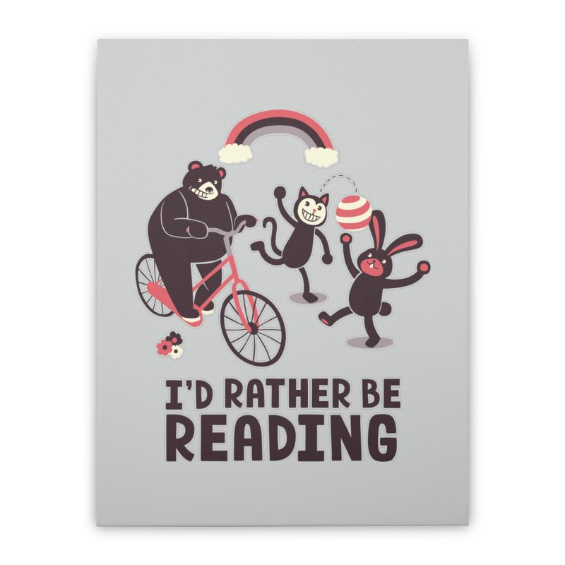 I'd Rather Be Reading Home Stretched Canvas by Tobe Fonseca's Artist Shop