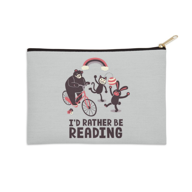I'd Rather Be Reading Accessories Zip Pouch by Tobe Fonseca's Artist Shop
