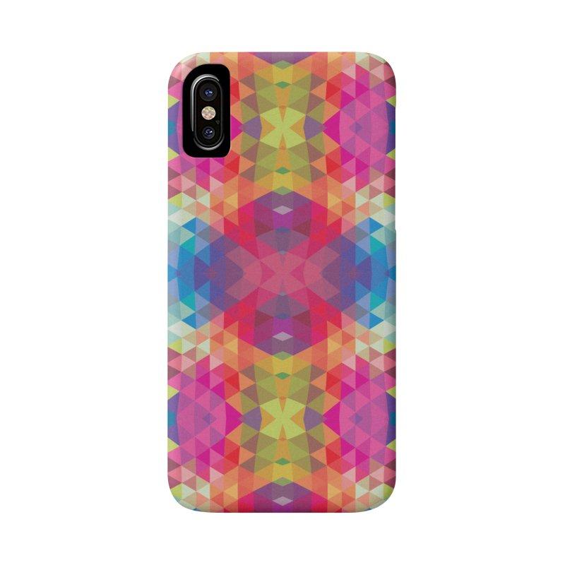 Geometric Fractal Kaleidoscope Rainbow Accessories Phone Case by Tobe Fonseca's Artist Shop