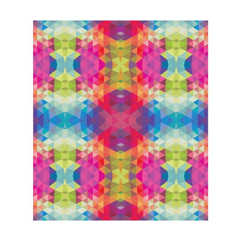 Geometric Fractal Kaleidoscope Rainbow by Tobe Fonseca's Artist Shop