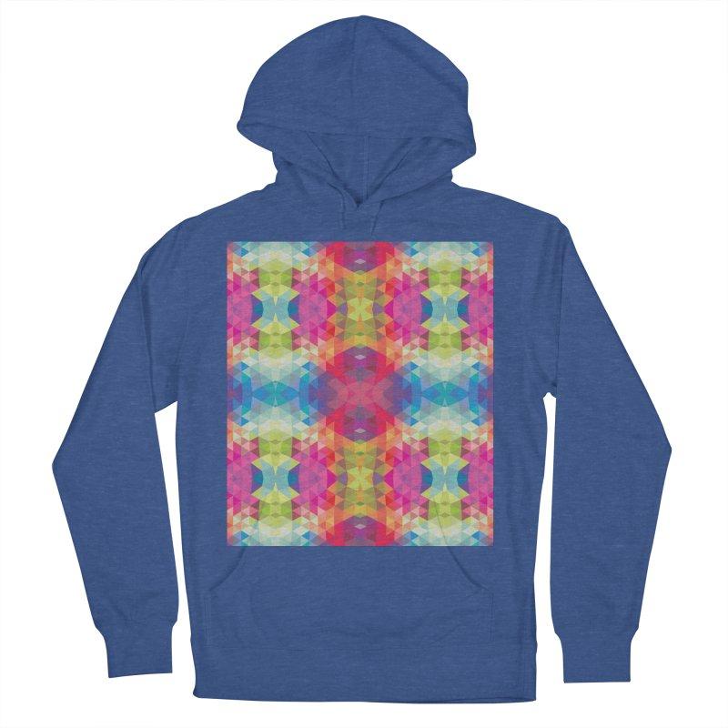 Geometric Fractal Kaleidoscope Rainbow Men's Pullover Hoody by Tobe Fonseca's Artist Shop