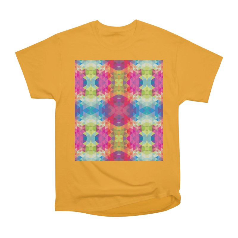 Geometric Fractal Kaleidoscope Rainbow Men's Classic T-Shirt by Tobe Fonseca's Artist Shop