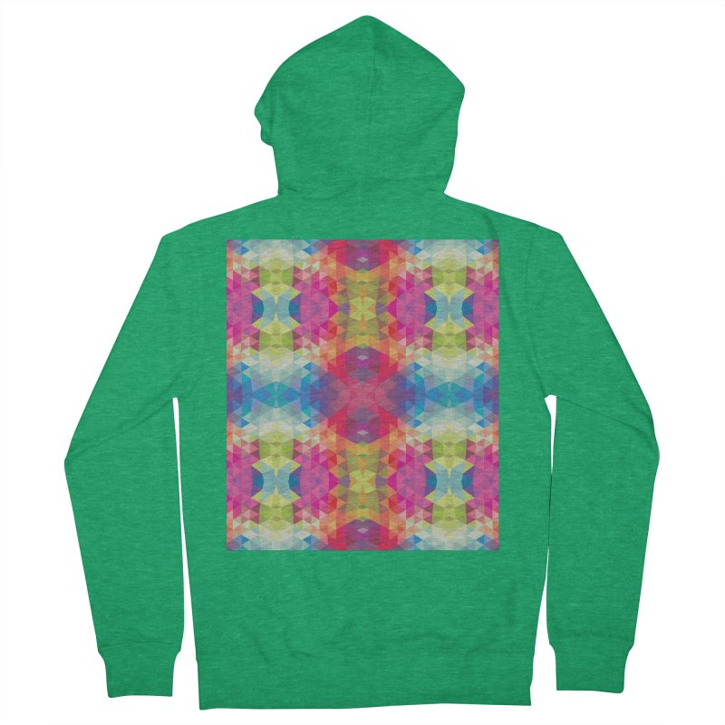 Geometric Fractal Kaleidoscope Rainbow Men's Zip-Up Hoody by Tobe Fonseca's Artist Shop