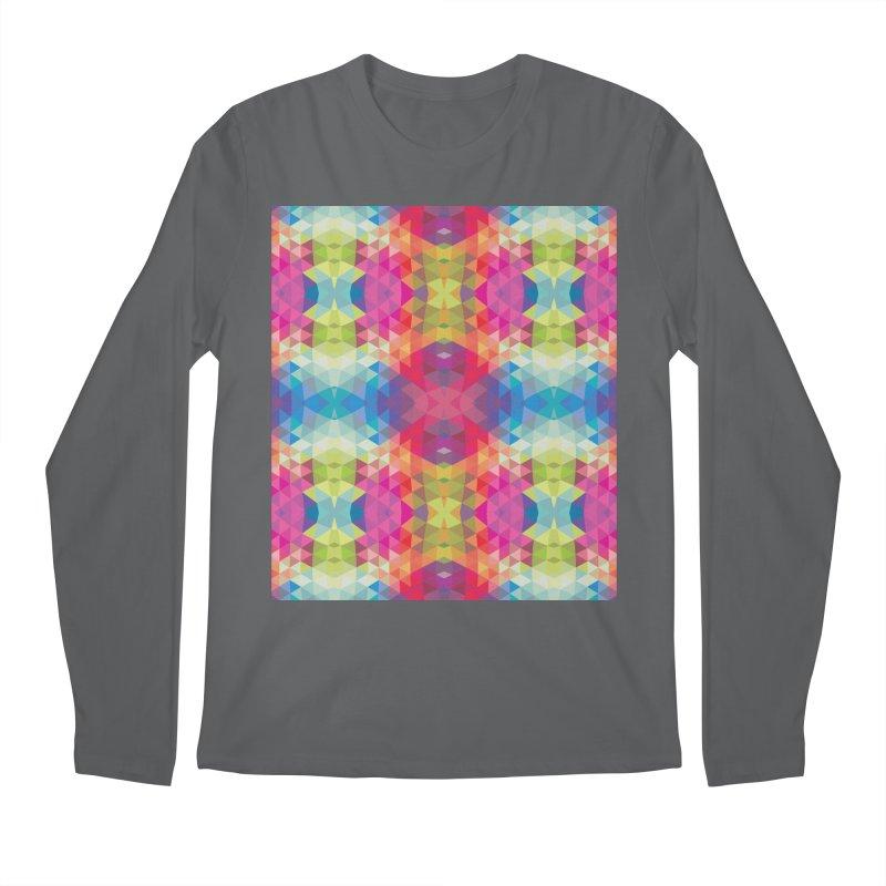 Geometric Fractal Kaleidoscope Rainbow Men's Longsleeve T-Shirt by Tobe Fonseca's Artist Shop