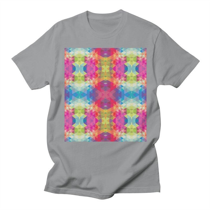 Geometric Fractal Kaleidoscope Rainbow Women's Unisex T-Shirt by Tobe Fonseca's Artist Shop