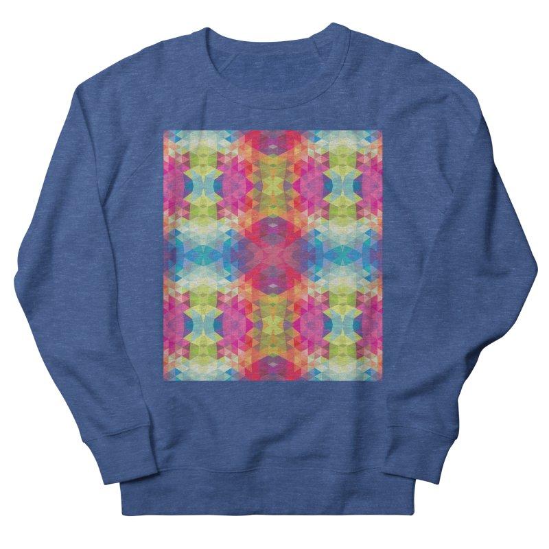 Geometric Fractal Kaleidoscope Rainbow Men's Sweatshirt by Tobe Fonseca's Artist Shop
