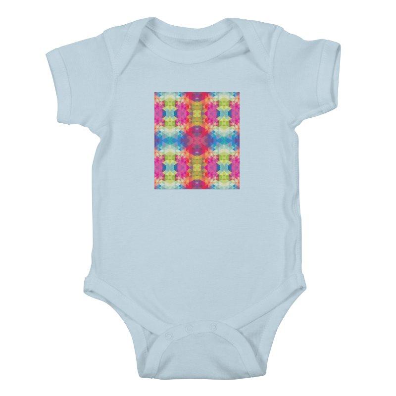 Geometric Fractal Kaleidoscope Rainbow Kids Baby Bodysuit by Tobe Fonseca's Artist Shop