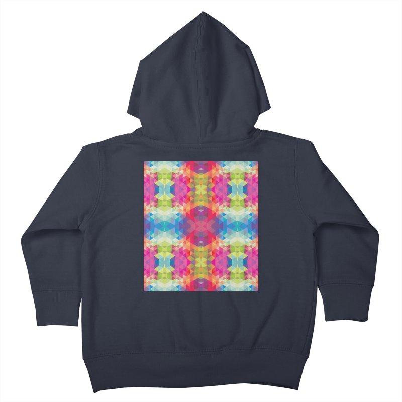Geometric Fractal Kaleidoscope Rainbow Kids Toddler Zip-Up Hoody by Tobe Fonseca's Artist Shop
