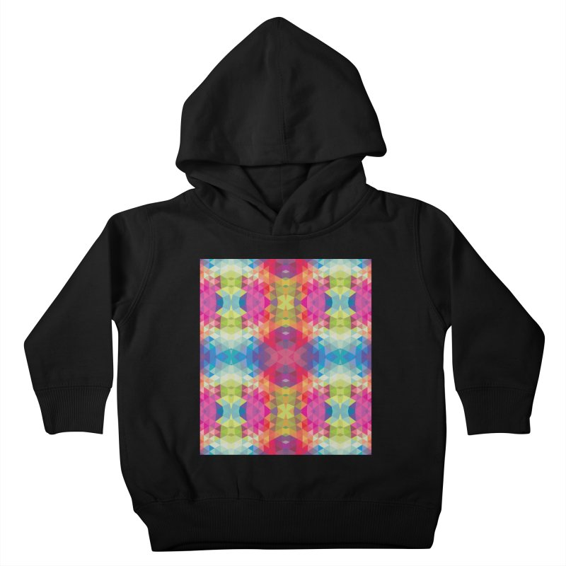 Geometric Fractal Kaleidoscope Rainbow Kids Toddler Pullover Hoody by Tobe Fonseca's Artist Shop