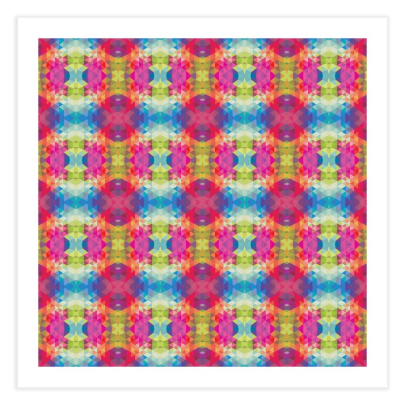 Geometric Fractal Kaleidoscope Rainbow Home Fine Art Print by Tobe Fonseca's Artist Shop