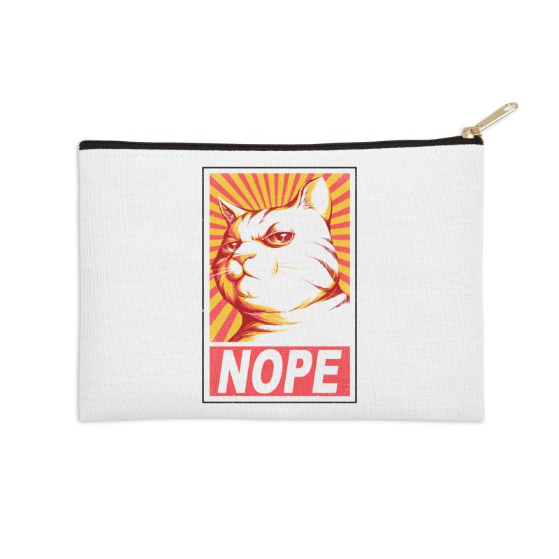 Obey Cats Accessories Zip Pouch by Tobe Fonseca's Artist Shop