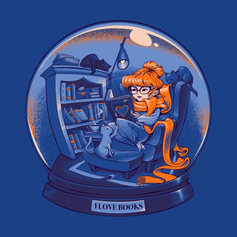 I Love Books and Cats by Tobe Fonseca's Artist Shop