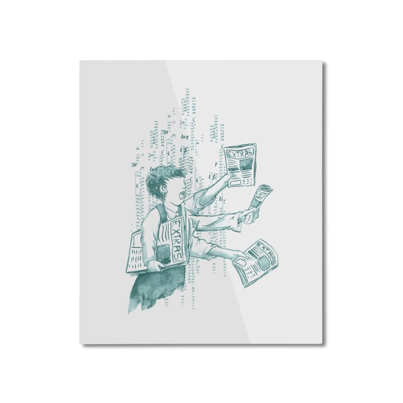Extra Extra Extra Home Mounted Aluminum Print by Tobe Fonseca's Artist Shop