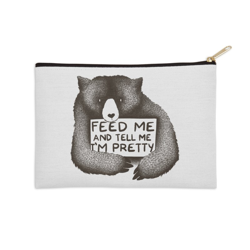 Feed Me And Tell Me I'm Pretty Accessories Zip Pouch by Tobe Fonseca's Artist Shop